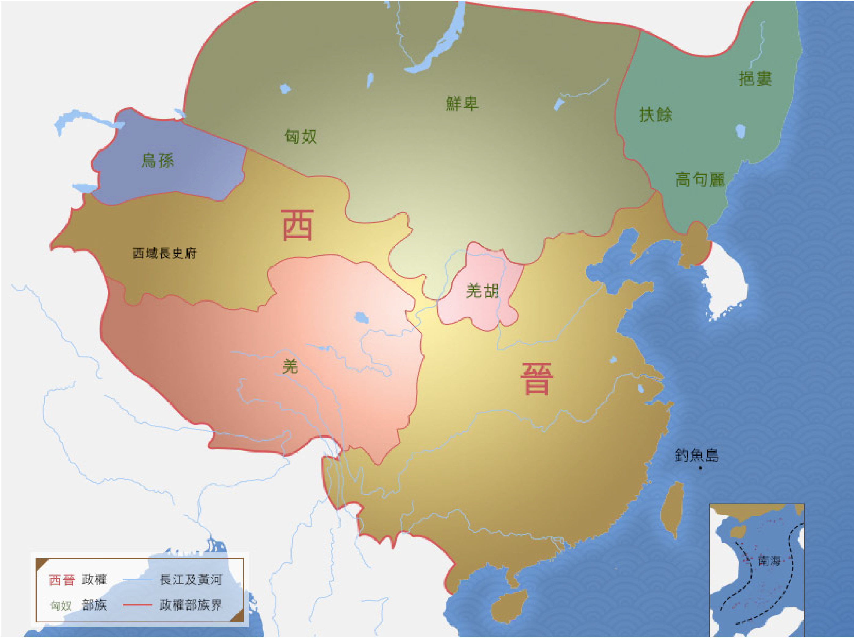 5000_dynasty-and-territory_map10_xijin
